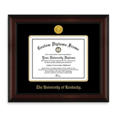 University of Kentucky 22K Gold-Plated Medallion Diploma Frame