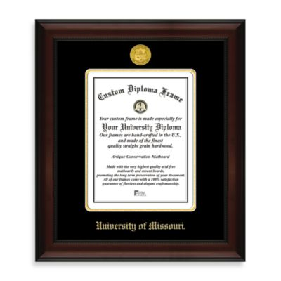 University of Missouri 22K Gold-Plated Medallion Diploma Frame