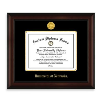 University of Nebraska 22K Gold-Plated Medallion Diploma Frame