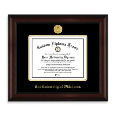 University of Oklahoma 22K Gold-Plated Medallion Diploma Frame