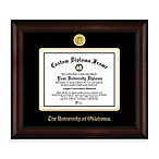 University of Oklahoma 22K Gold-Plated Medallion Diploma Frame