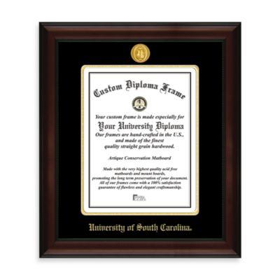 University of South Carolina 22K Gold-Plated Medallion Diploma Frame