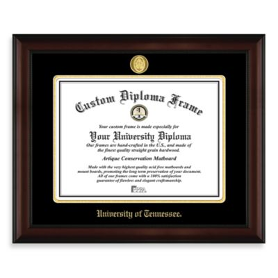 University of Tennessee 22K Gold-Plated Medallion Diploma Frame