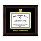 Michigan State 22K Gold-Plated Medallion Diploma Frame