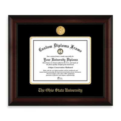 Ohio State 22K Gold-Plated Medallion Diploma Frame