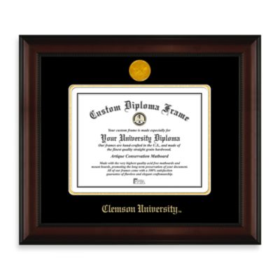 Clemson University 22K Gold-Plated Medallion Diploma Frame