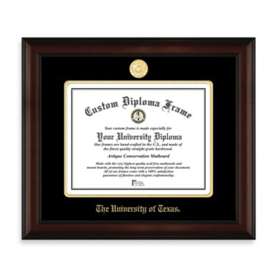 University of Texas 22K Gold-Plated Medallion Diploma Frame
