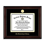 University of Texas 22K Gold-Plated Medallion Diploma Frame