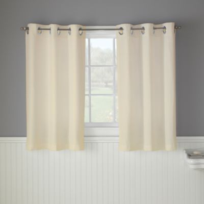 Hookless Waffle 38-Inch W x 45-Inch L Window Curtain Panel Pair in Cream