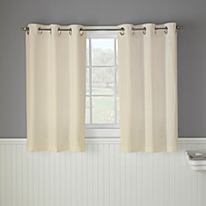 Hookless® Waffle 45-Inch Window Curtain in Cream