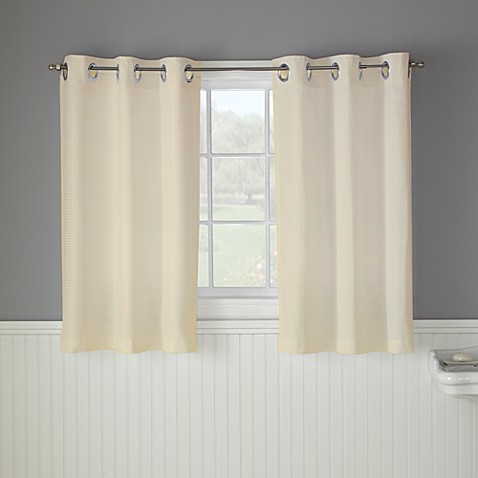 Hookless Waffle 45 Inch Bath Window Curtain In Cream Bed Bath Beyond
