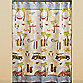 Gone Surfing Fabric Shower Curtain