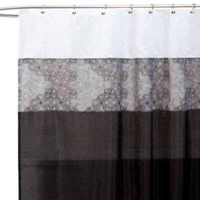 Black White Shower Curtain Panels