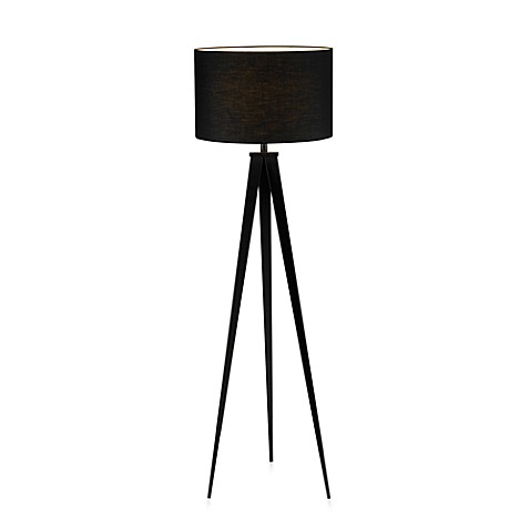 Adesso® Black Director Floor Lamp