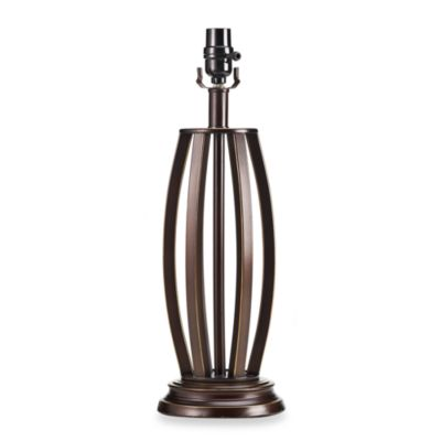 Mix & Match Medium Cage Lamp Base in Bronze With CFL Bulb