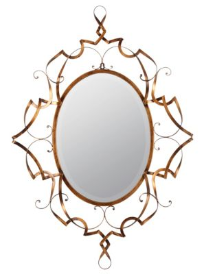 Cooper Classics Carter Antique Gold Bevelled Mirror