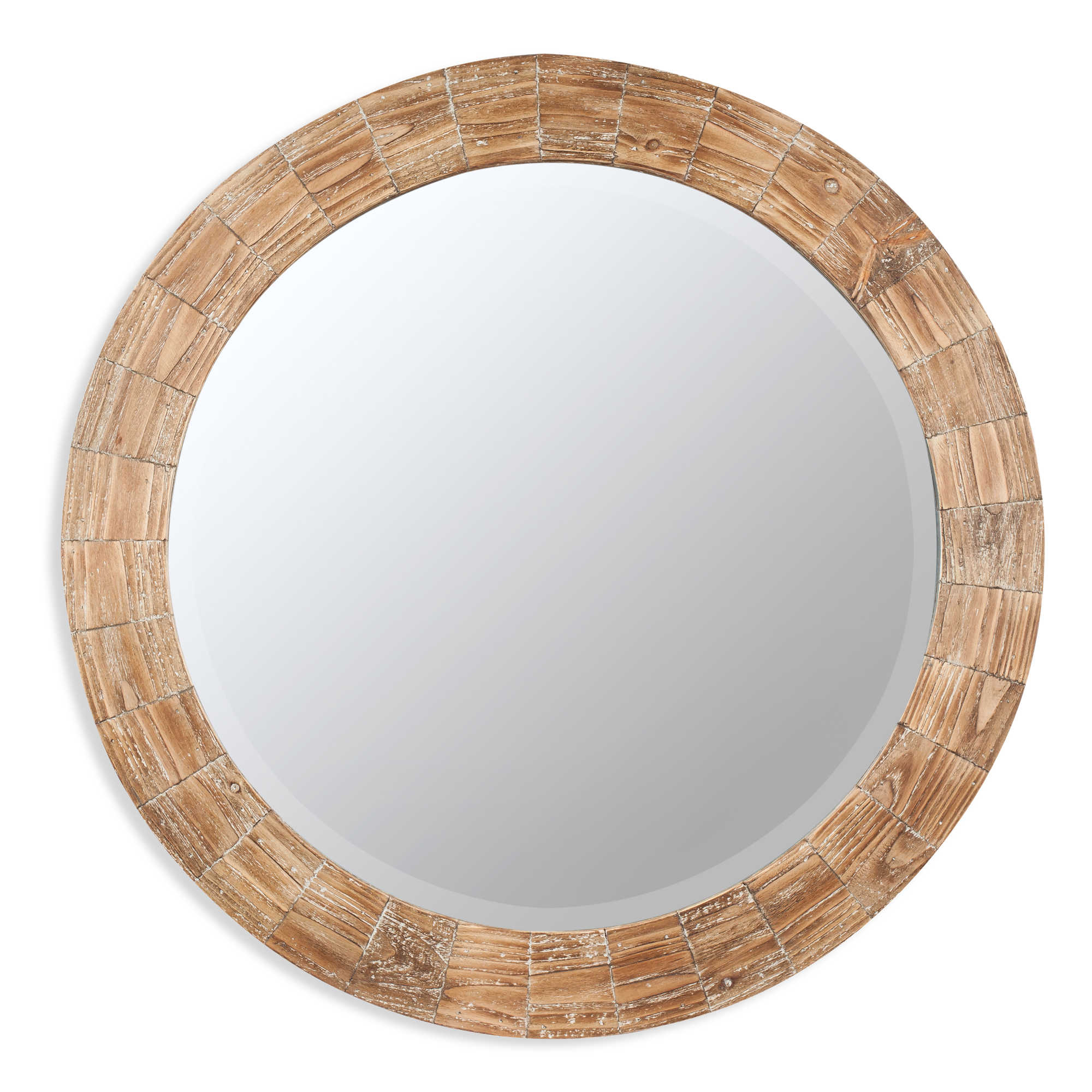 Round wooden framed mirrors images Round framed mirror