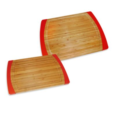 Bamboo Red Non-Slip Cutting Boards