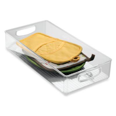 InterDesign® Cabinet Binz™ 16-Inch x 8-Inch x 3-Inch Plastic Bin