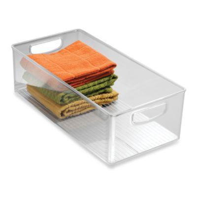 InterDesign® Cabinet Binz™ 16-Inch x 8-Inch x 5-Inch Plastic Bin