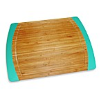 Bamboo 16-Inch x 12-Inch Non-Slip Cutting Board in Teal
