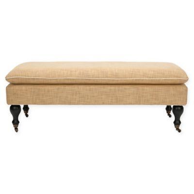 Safavieh Hampton Pillowtop Bench in Gold