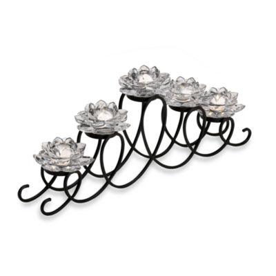 Mikasa® 5 Clear Lotus Flower Loop Tealight Runner