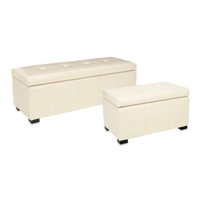 Safavieh Large Maiden Storage Bench in Cream