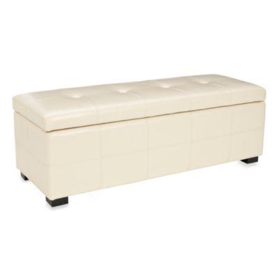 Safavieh Large Maiden Storage Bench in Cream