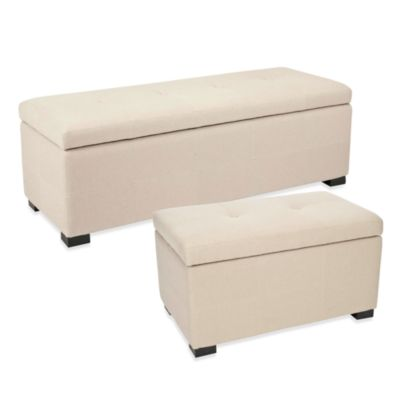 Safavieh Maiden Storage Bench in Beige