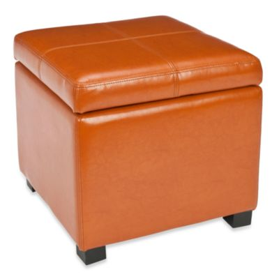 Safavieh Madison Square Ottoman in Saddle