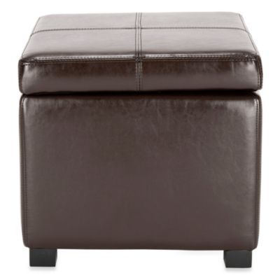 Safavieh Madison Square Ottoman in Brown