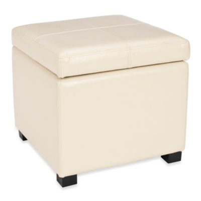 Safavieh Madison Square Ottoman in Cream