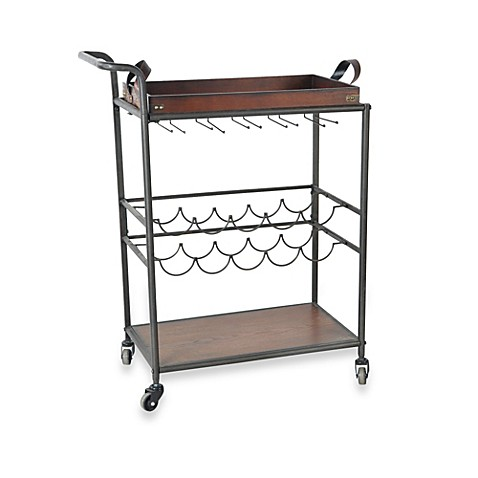 Wine Storage Cart with Removable Tray Top
