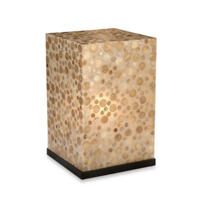 Jeffan International Bubbles Lighted Bedside Table
