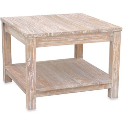 Jeffan International White Domme End Table