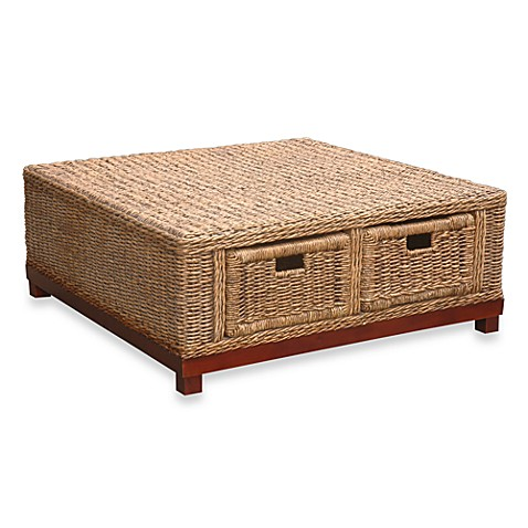 Jeffan International Rinna Woven Cocktail Table