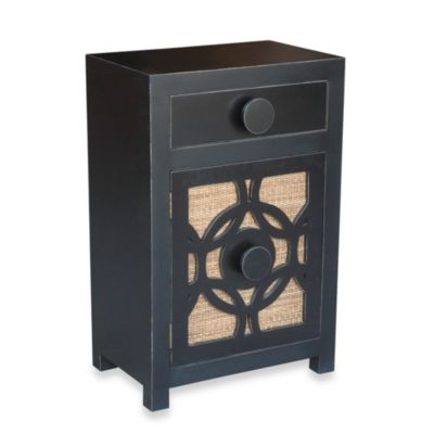 Jeffan International Sumba Nightstand in Weabing Antique