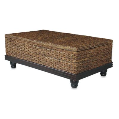 Jeffan International Tropical Coffee Table Abaca Small Astor w/Storage