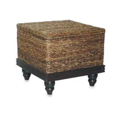 Jeffan International Tropical End Table Abaca Small Astor w/Storage