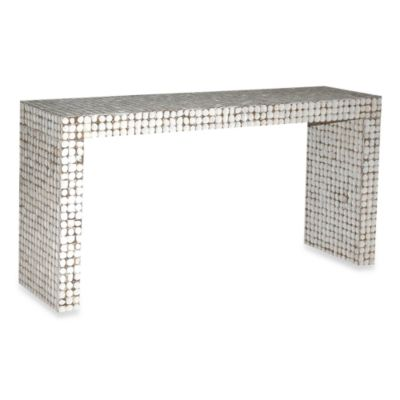 Jeffan International White Cassy Console Table