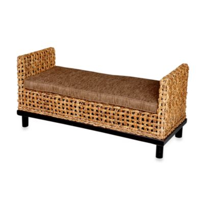 Jeffan International Dimitrio Woven Bench w/Thick Cushion
