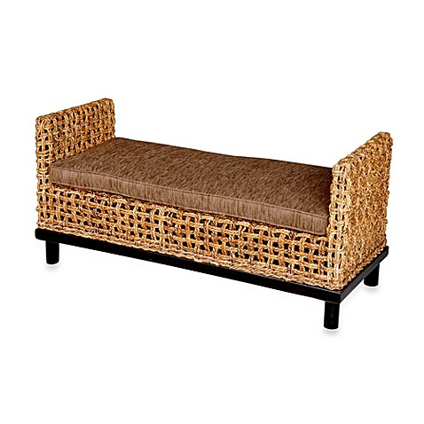 Buy Jeffan International Dimitrio Woven Bench W Thick Cushion From Bed Bath Beyond