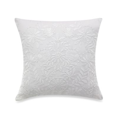 KAS® Mahalia White Square Toss Pillow