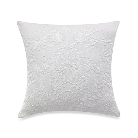 KAS® Mahalia White Square Toss Pillow - Bed Bath & Beyond