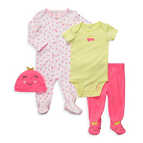 Carter's® 4-Piece Pink Cherry Outfit Set