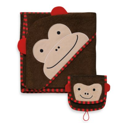 SKIP*HOP® Zoo Towel & Mitt Set in Monkey