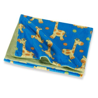 NoJo® Sweet Jungle Giraffe Printed Velboa Coral Fleece Blanket