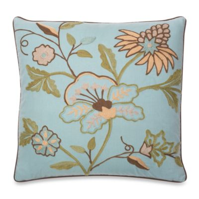 Mill Valley Square Toss Pillow in Blue Floral