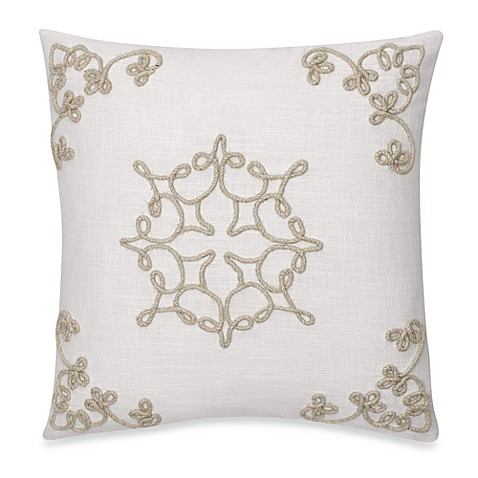 Tillery Embroidered Square Toss Pillow